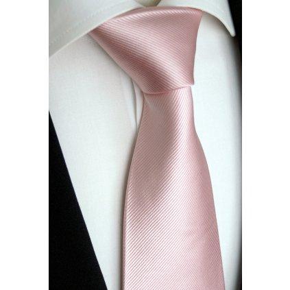 světle růžová kravata