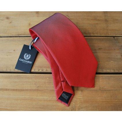 Luxusní kravata Gagliardi - červená jednobarevná