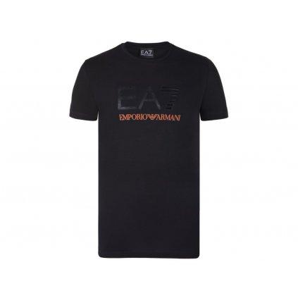 ARMANI tričko s krátkým rukávem černé