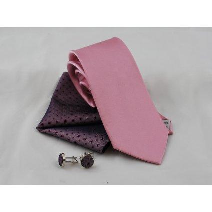 Nejen svatební set, kravata Boretti kapesníček a knoflíčky 24