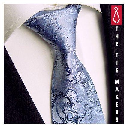 Beytnur 224-4 hedvábná kravata modrá paisley