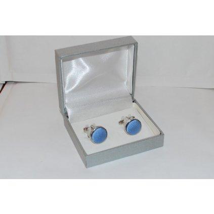 Manžetové knoflíčky jednobarevné modré