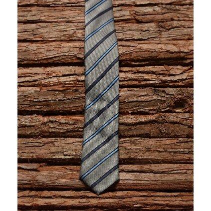 Luxusní slim kravata Gagliardi stříbrná
