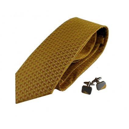 Zlatý, kravaty a knoflíčků
