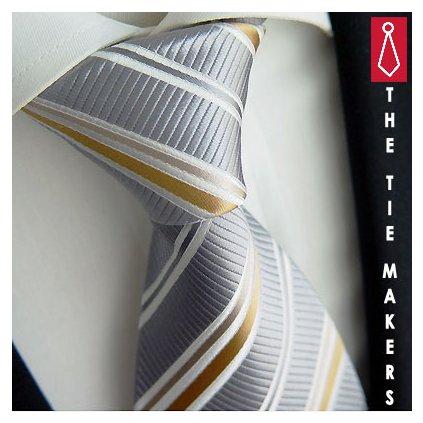 Exkluzivní šedá kravata Beytnur 90-6 extra jemná