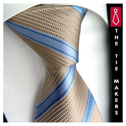 Luxusní béžová kravata Beytnur 204-2