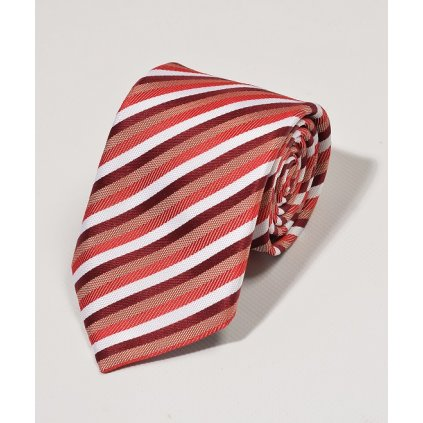 Luxusní kravata Gagliardi - červená pruhovaná