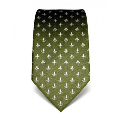 zelená kravata s liliema