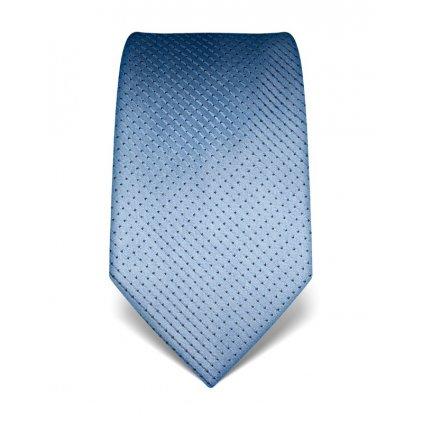 Luxusní sv. modrá kravata s prošitím V. Boretti 21991