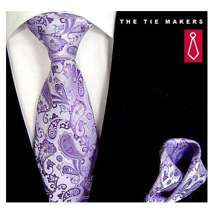 Beytnur 45-10 společenská kravata s kapesníčkem