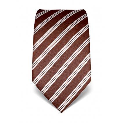 Luxusní  kravata Vincenzo Boretti 21945 - hnědá