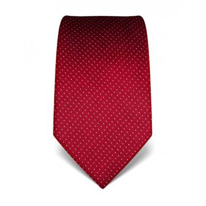 Vínová manažerská kravata s prošitím V. Boretti 21991