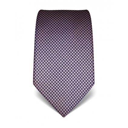 Modro růžová kravata Vincenzo Boretti 21937 - kohoutí stopa