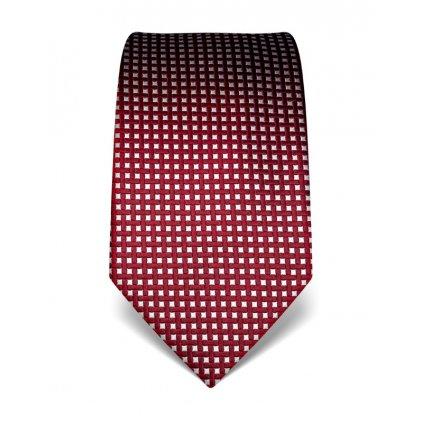 Elegantní kravata Vincenzo Boretti 21938 - červený čtvereček