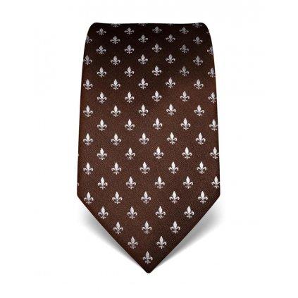 Lilie hnědá kravata Vincenzo Boretti 21974