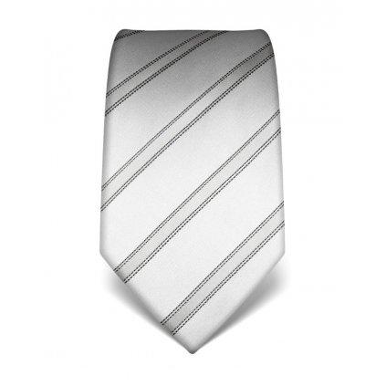 Elegantní kravata Vincenzo Boretti 21999 - stříbrná