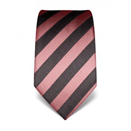Pruhovaná kravata Vincenzo Boretti 21979 - staro růžová