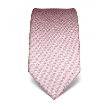 Luxusní kravata Vincenzo Boretti 21936 - jemně růžová