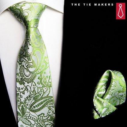 Beytnur svatební kravata s kapesníčkem