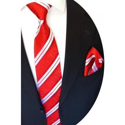 hedvábná kravata s kapesníčkem