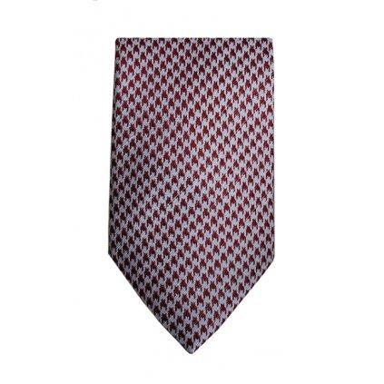 Luxusní kravata Bugatti - červená kohoutí stopa