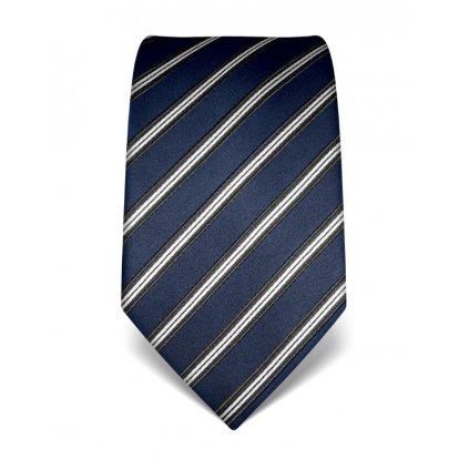 Pruhovaná kravata Vincenzo Boretti 21998 - modrá