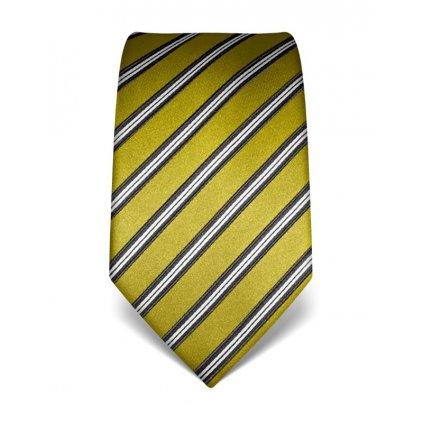 Pruhovaná kravata Vincenzo Boretti 21946 - jarní zelená