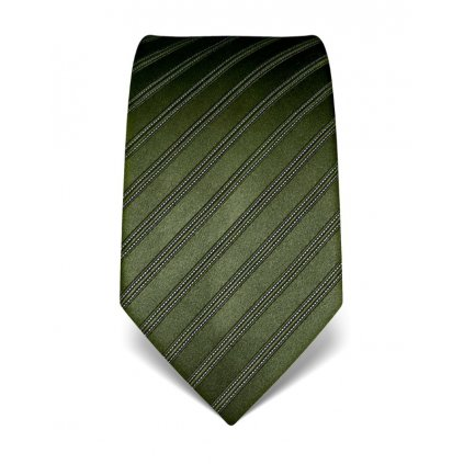 Luxusní tmavě zelená kravata Vincenzo Boretti 21940 - s prošitím