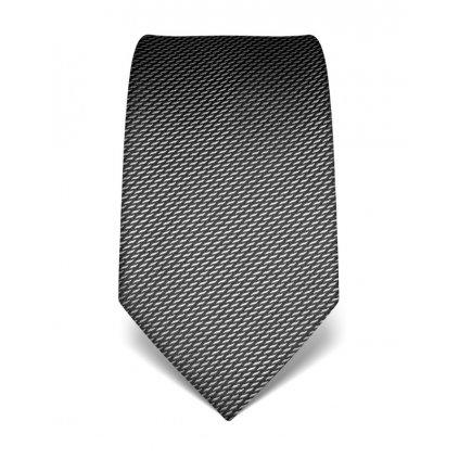 Elegantní antracitová kravata Vincenzo Boretti 21982