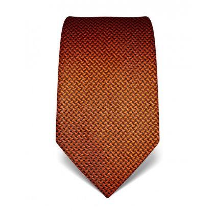 Oranžová kravata Vincenzo Boretti 21937 - kohoutí stopa