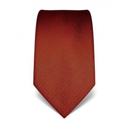 Oranžová kravata Vincenzo Boretti 21918 - jemná kostička