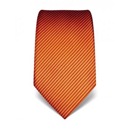 Manažerská kravata Vincenzo Boretti 21932 - oranžová
