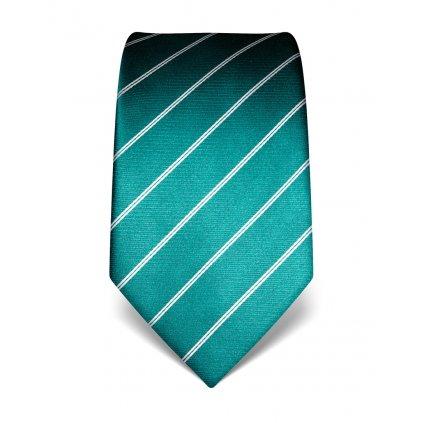 Emerald kravata hedvábná s pruhem