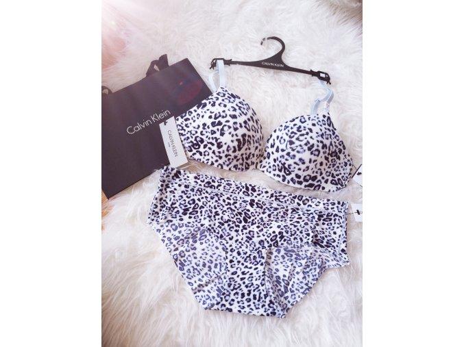 Dámské kalhotky Calvin Klein -hipster leopard