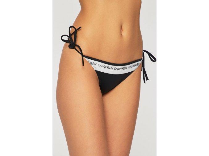 Calvin Klein černý spodní díl plavek String Side Tie Bikini Black