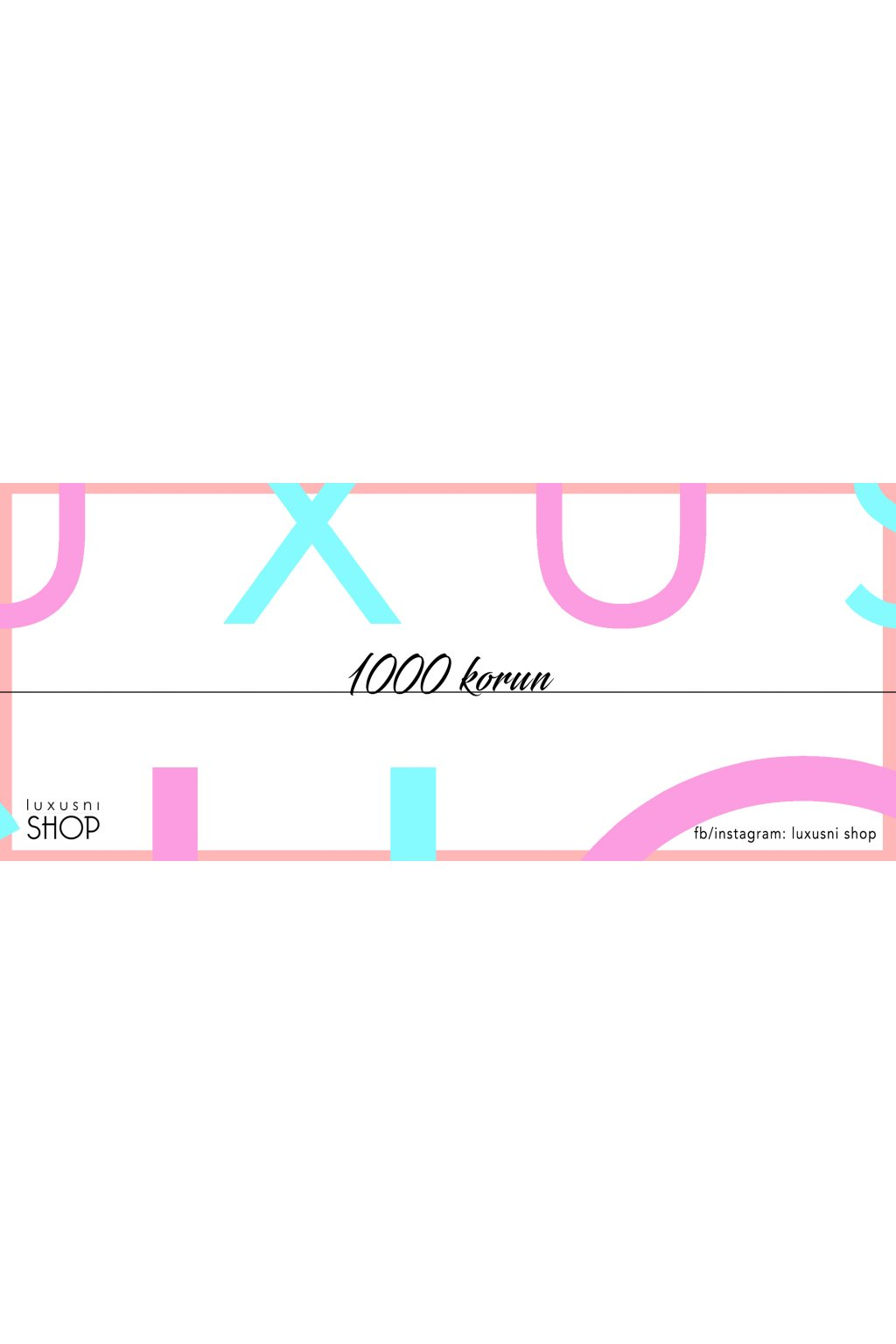 Dárkový poukaz REFRESH 1000