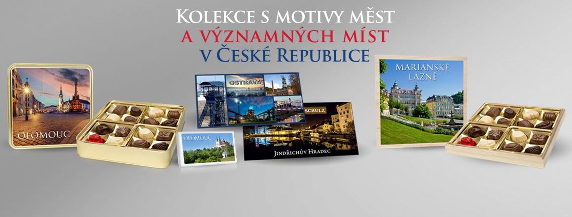 Kolekce s motivy měst a významných míst v České republice