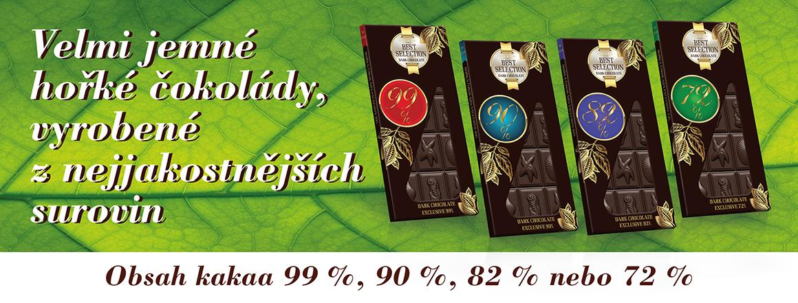 Kolekce luxusních hořkých čokolád Best Selection