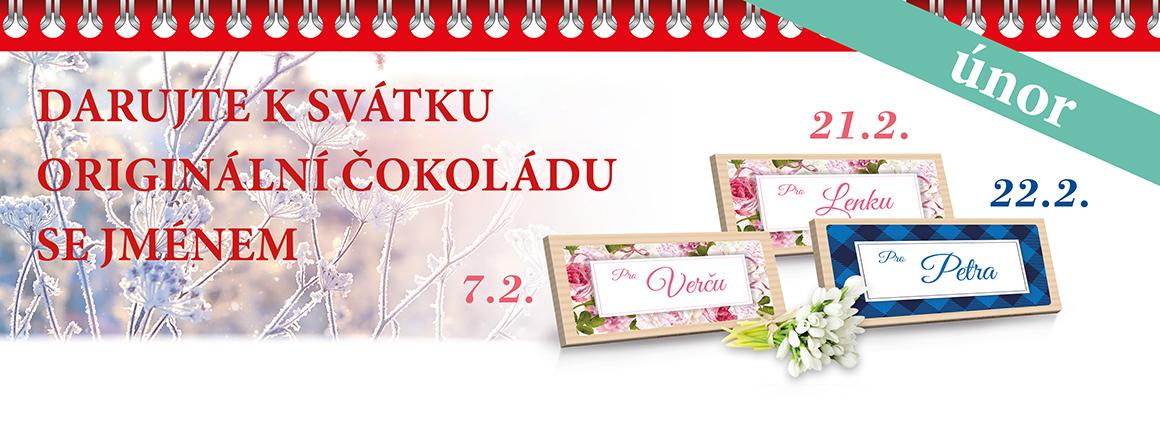 Čokolády k svátku - únor