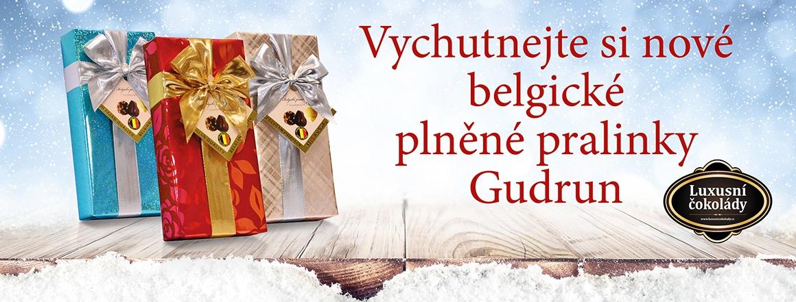 Plněné belgické pralinky ve vánočních obalech