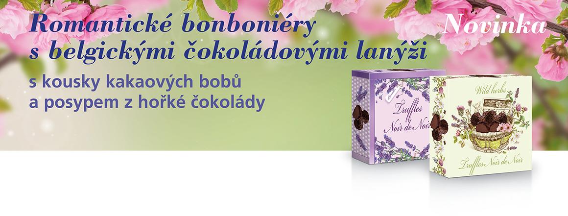 Romantické bonboniéry s belgickými čokoládovými lanýži