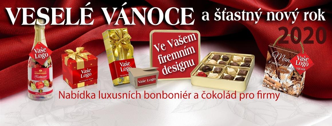 Bonboniéry a čokolády ve firemních obalech