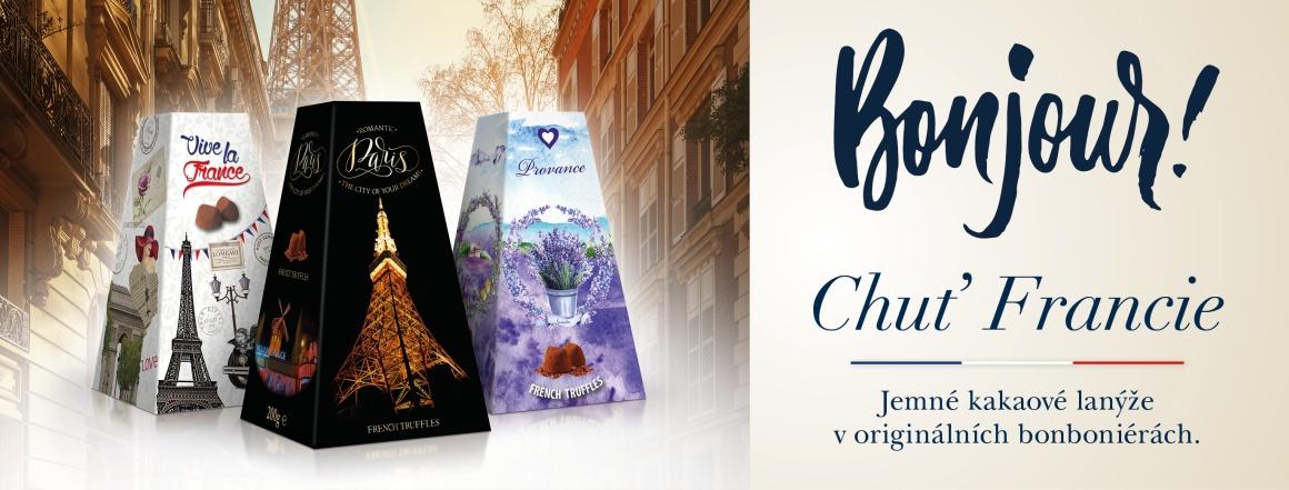 Kakaové lanýže s motivem Francie