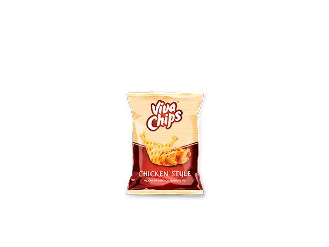 VIVA Chips cu aroma de pui 50g