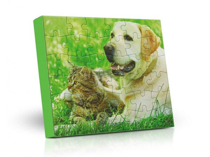 Lodicky puzzle Labrador kocka 125g M