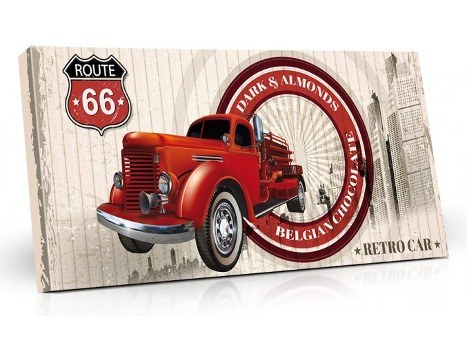 Viz Cok RETRO CAR Cervena HOR Mandle K21 157 1bodovka 287x130x19 M