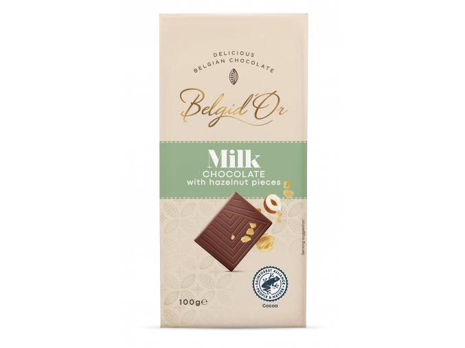 BDO Tablet 100gr Milk chocolate with chopped hazelnuts