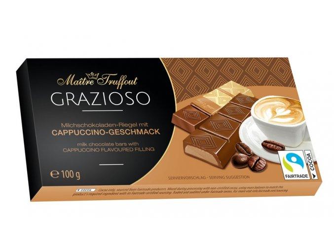 Grazioso milk chocolate with cappuccino cream filling 100g 8x125g Image 1 Zoom image