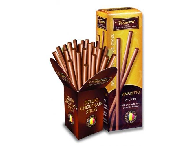 Trianon čokoládové tyčinky amaretto 30% 125g