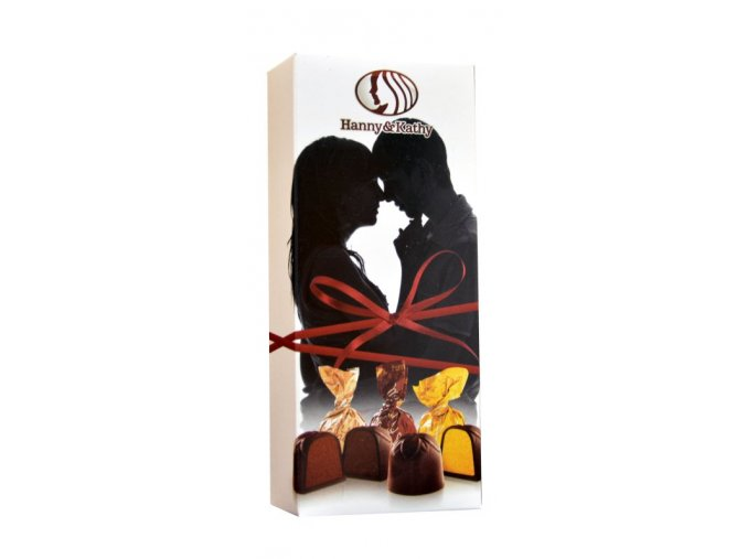 Čokoládové plněné pralinky v dárkové krabičce 90g - arming couple